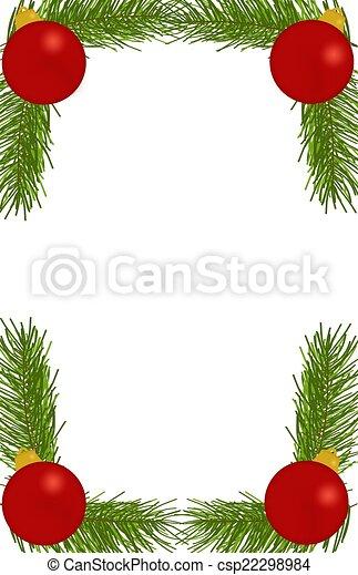 Ornament Branch Border - csp22298984