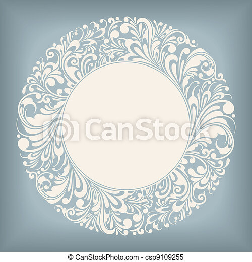 Ornament Circle Label - csp9109255