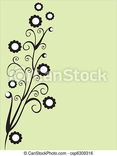 ornament, floral - csp6309316