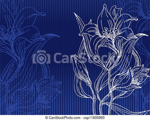 ornament, floral - csp11605993