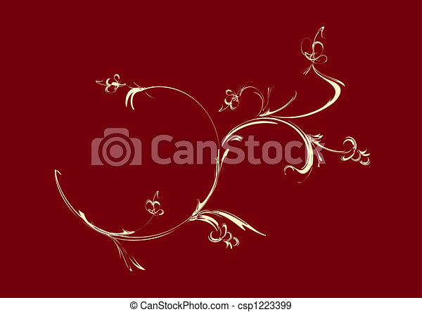 ornament, floral - csp1223399