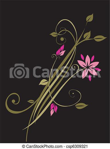 ornament, floral - csp6309321