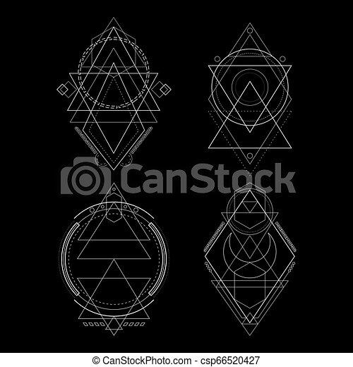 Ornament Geometry Style - csp66520427