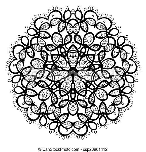 ornament, mandala., pattern., ronde - csp20981412