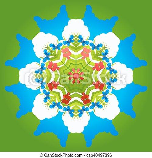 ornament, natuur - csp40497396