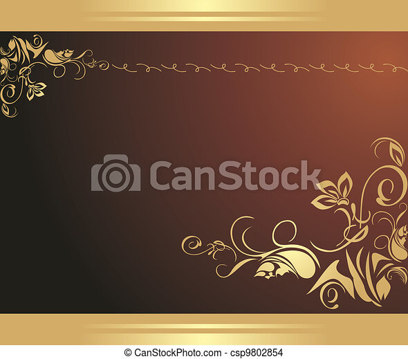 Ornament on the brown background - csp9802854