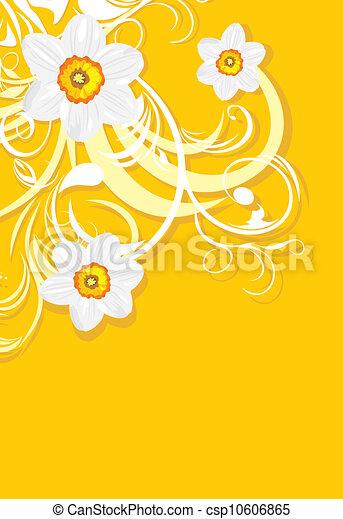 Ornamental background with daffodil - csp10606865