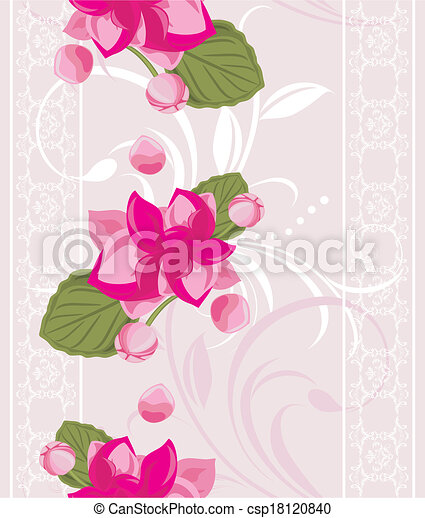 Ornamental background with flowers - csp18120840