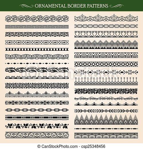 Ornamental Border Patterns - csp25348456