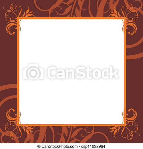 Ornamental brown frame - csp11032964