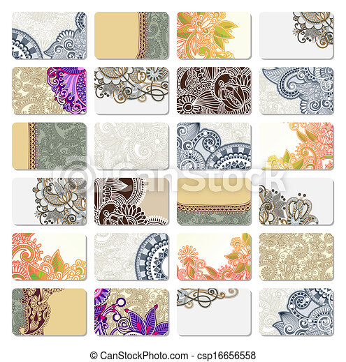 ornamental business card - csp16656558