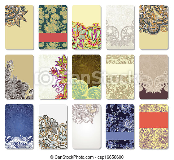 ornamental business card - csp16656600