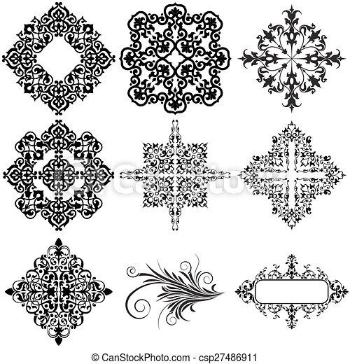 Elementos de diseño ornamentales - csp27486911
