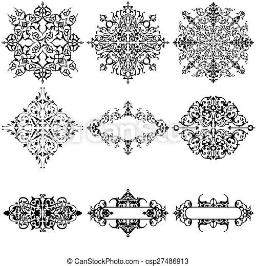 Elementos de diseño ornamentales - csp27486913