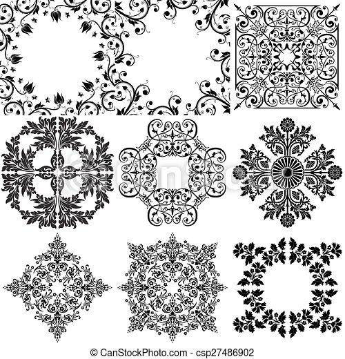 Elementos de diseño ornamentales - csp27486902