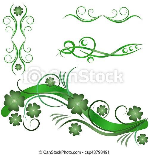 Elementos de diseño ornamentales - csp43793491