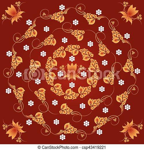 Elementos de diseño ornamentales - csp43419221