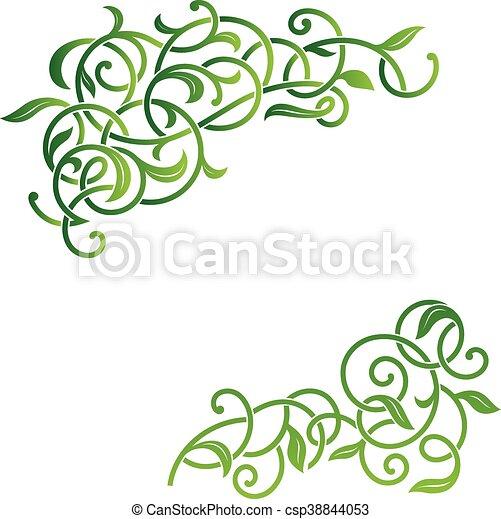 Ornamental floral corner. - csp38844053