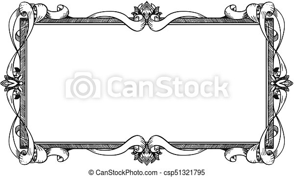 Ornamental frame label design. Artistic ornamental frame label design.