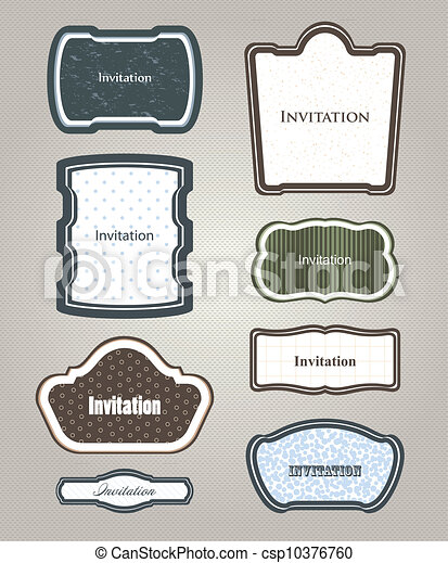 Ornamental frames. Vector set - csp10376760