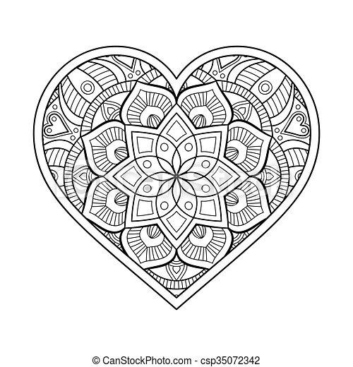 ornamental ornament beautiful card with mandala
