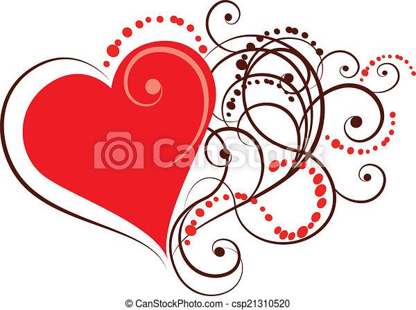 ornamental heart - csp21310520