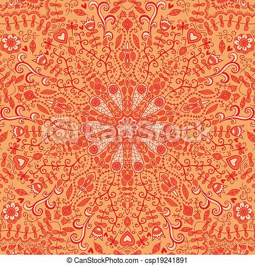 ornamental lace pattern, circle bac - csp19241891