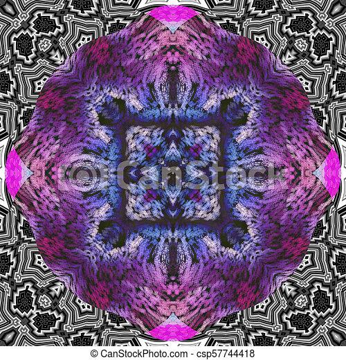 Ornamental pattern tile - csp57744418