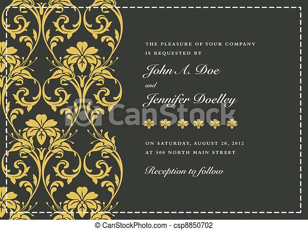 ornamental, quadro, vetorial, ouro - csp8850702