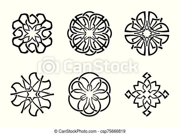 ornamental round celtic frame set 05 - csp75666819