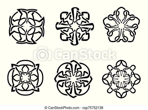 ornamental round celtic frame set - csp75752138