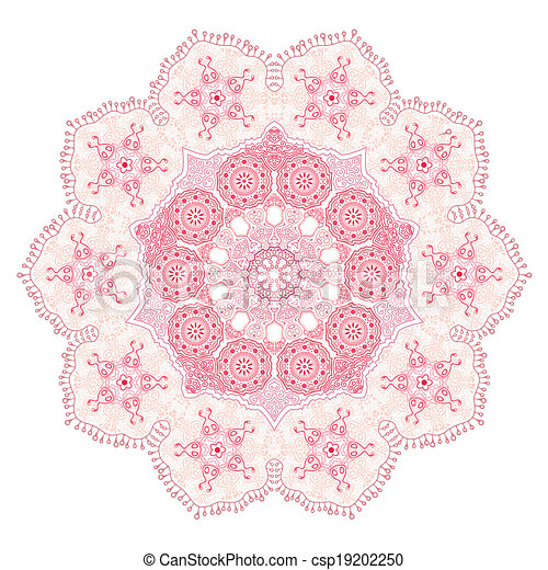 ornamental round lace - csp19202250