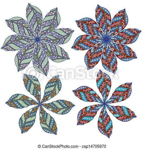 Ornamental round lace  - csp14705970