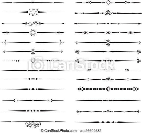 Ornamental Rule Lines - csp26609532