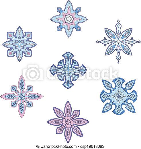Ornamental snowflakes - csp19013093