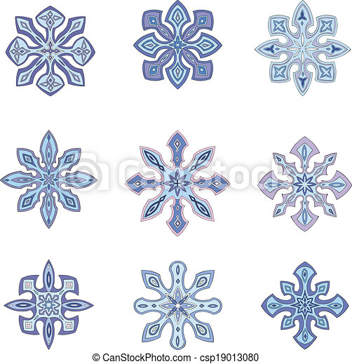 Ornamental snowflakes - csp19013080
