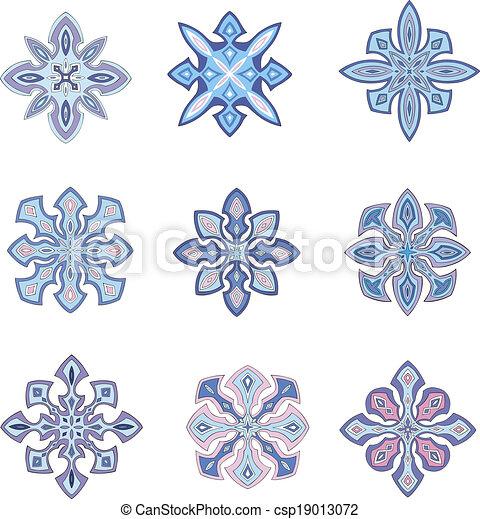 Ornamental snowflakes - csp19013072