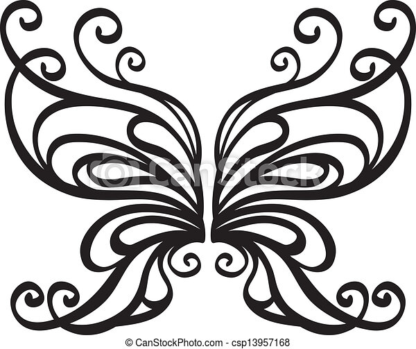 ornamental vector butterfly clip art vector search drawings and rh canstockphoto com free ornament vector png free vector ornament pattern