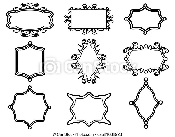 ornamental vintage frame set - csp21682928
