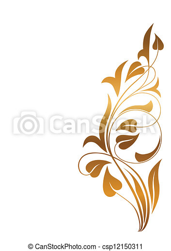Ornamental white background - csp12150311