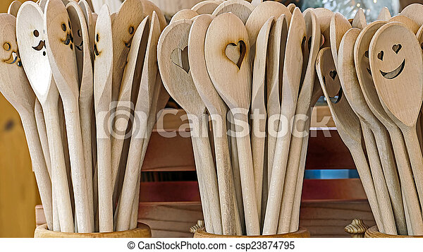 Ornamental wooden spoon - csp23874795