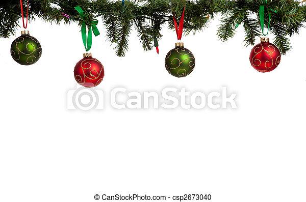 ornament/baubles, karácsony, girland, függő - csp2673040