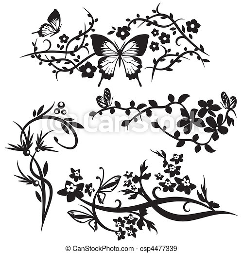 ornamento, cinese, serie - csp4477339