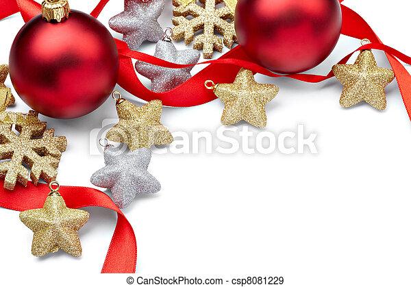 ornamento, decoração, ano, novo, feriado, natal - csp8081229