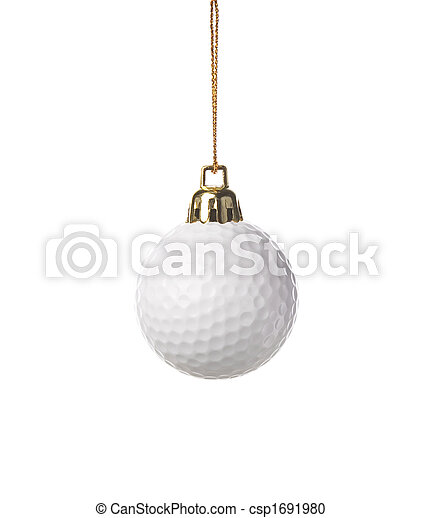 ornamento, golfe-bola - csp1691980