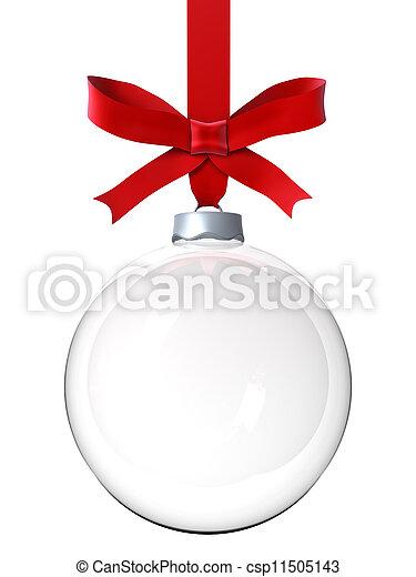 ornamento, natal, vazio - csp11505143