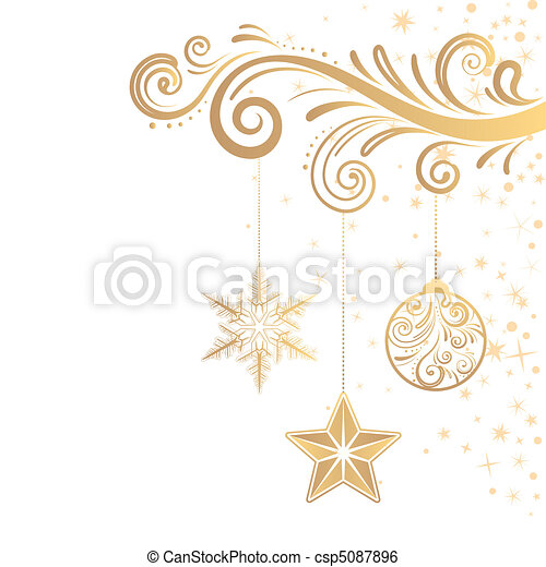 ornamento, natal - csp5087896