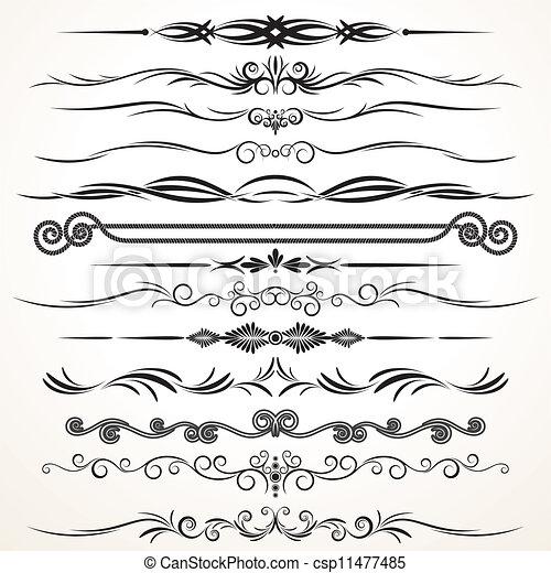ornamento, vetorial, desenho - csp11477485