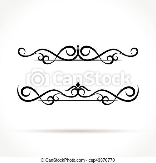 ornaments design on white background - csp43370770