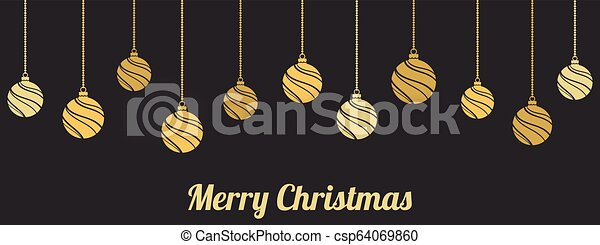 ornaments., gelul, kerst decoraties, hangend - csp64069860